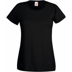 Vêtements Femme T-shirts manches courtes Fruit Of The Loom 61372 Noir