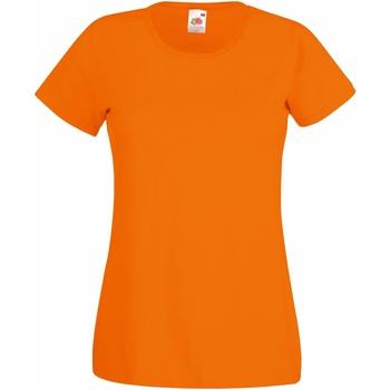 Vêtements Femme T-shirts manches courtes Fruit Of The Loom 61372 Orange