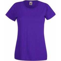 Vêtements Femme T-shirts manches courtes Fruit Of The Loom 61372 Violet