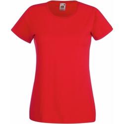 Vêtements Femme T-shirts manches courtes Fruit Of The Loom 61372 Rouge