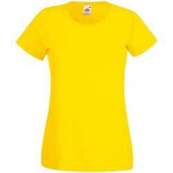 Vêtements Femme T-shirts manches courtes Fruit Of The Loom 61372 Jaune vif
