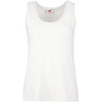Vêtements Femme Débardeurs / T-shirts sans manche Fruit Of The Loom Lady-Fit Blanc