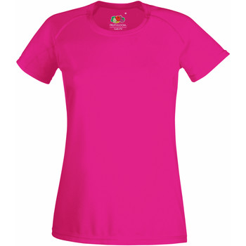 Vêtements Femme T-shirts manches courtes Fruit Of The Loom Performance Fuchsia