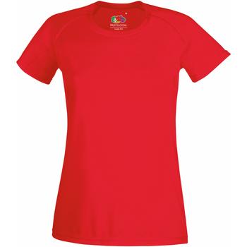 Vêtements Femme T-shirts manches courtes Fruit Of The Loom Performance Rouge