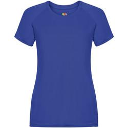 Vêtements Femme T-shirts manches courtes Fruit Of The Loom 61392 Bleu roi