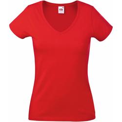 Vêtements Femme T-shirts manches courtes Fruit Of The Loom 61398 Rouge