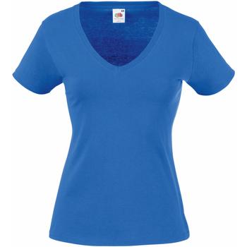 Vêtements Femme T-shirts manches courtes Fruit Of The Loom 61398 Bleu royal