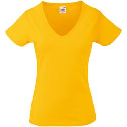 Vêtements Femme T-shirts manches courtes Fruit Of The Loom 61398 Tournesol