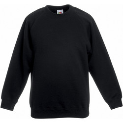 Vêtements Enfant Sweats Fruit Of The Loom Raglan Noir