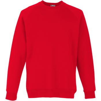 Vêtements Enfant Sweats Fruit Of The Loom Raglan Rouge