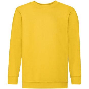 Vêtements Enfant Sweats Fruit Of The Loom 62041 Jaune