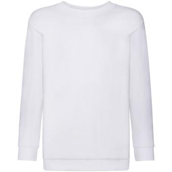 Vêtements Enfant Sweats Fruit Of The Loom 62041 Blanc
