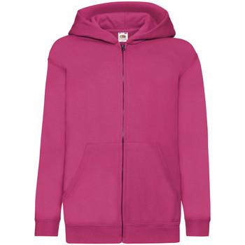 Vêtements Enfant Sweats Fruit Of The Loom Hooded Fuchsia