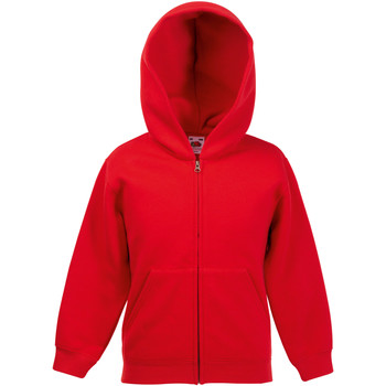 Vêtements Enfant Sweats Fruit Of The Loom Hooded Rouge