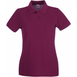 Vêtements Femme Polos manches courtes Fruit Of The Loom Premium Bordeaux