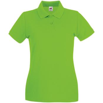 Vêtements Femme Polos manches courtes Fruit Of The Loom Premium Vert citron