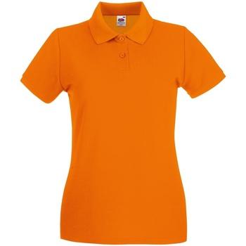 Vêtements Femme Polos manches courtes Fruit Of The Loom Premium Orange