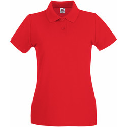 Vêtements Femme Polos manches courtes Fruit Of The Loom Premium Rouge
