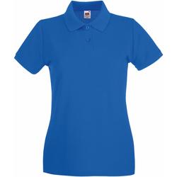 Vêtements Femme Polos manches courtes Fruit Of The Loom Premium Bleu royal