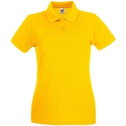 Vêtements Femme Polos manches courtes Fruit Of The Loom Premium Tournesol