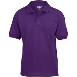 Vêtements Enfant Polos manches courtes Gildan Jersey Violet