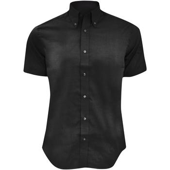 Vêtements Homme Chemises manches courtes Kustom Kit Oxford Noir