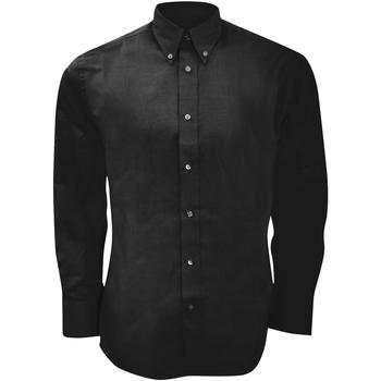 Vêtements Homme Chemises manches longues Kustom Kit Oxford Noir