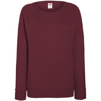 Vêtements Femme Sweats Fruit Of The Loom Raglan Bordeaux