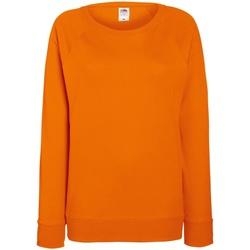 Vêtements Femme Sweats Fruit Of The Loom Raglan Orange