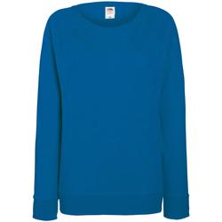 Vêtements Femme Sweats Fruit Of The Loom Raglan Bleu roi