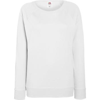 Vêtements Femme Sweats Fruit Of The Loom Raglan Blanc