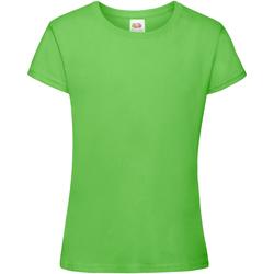 Vêtements Fille T-shirts manches courtes Fruit Of The Loom Sofspun Vert citron