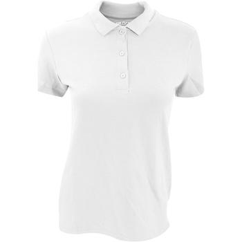 Vêtements Femme Polos manches courtes Gildan Pique Blanc