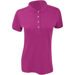 Vêtements Femme Polos manches courtes Russell Polo stretch à manches courtes BC3256 Fuchsia