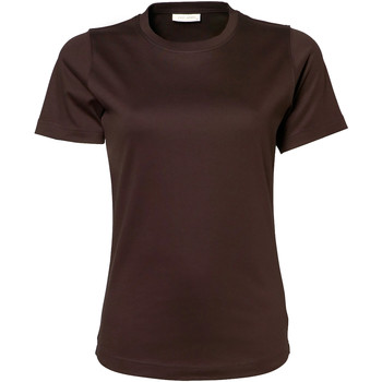 Vêtements Femme T-shirts manches courtes Tee Jays Interlock Chocolate