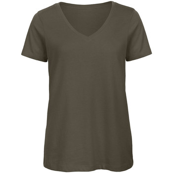 Vêtements Femme T-shirts manches courtes B And C Organic Kaki