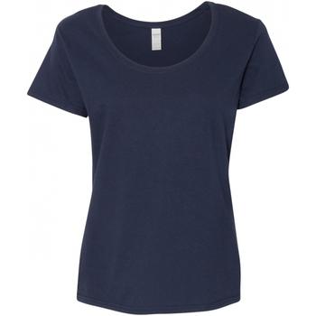 Vêtements Femme T-shirts manches courtes Gildan Scoop Bleu marine
