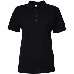 Vêtements Femme Polos manches courtes Gildan Pique Noir