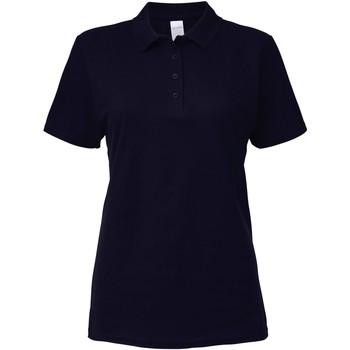 Vêtements Femme Polos manches courtes Gildan Pique Bleu marine