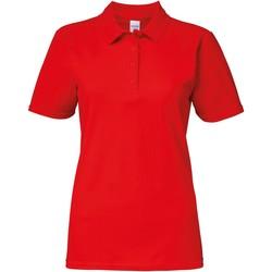 Vêtements Femme Polos manches courtes Gildan Pique Rouge