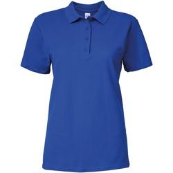 Vêtements Femme Polos manches courtes Gildan 64800L Bleu roi