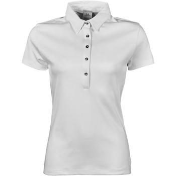 Vêtements Femme Polos manches courtes Tee Jays Pima Blanc