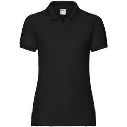 Vêtements Femme Polos manches courtes Fruit Of The Loom 63212 Noir
