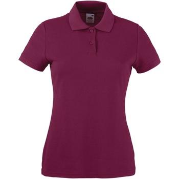 Vêtements Femme Polos manches courtes Fruit Of The Loom 63212 Bordeaux