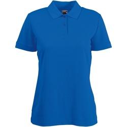 Vêtements Femme Polos manches courtes Fruit Of The Loom 63212 Bleu royal