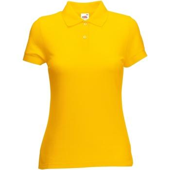 Vêtements Femme Polos manches courtes Fruit Of The Loom 63212 Tournesol