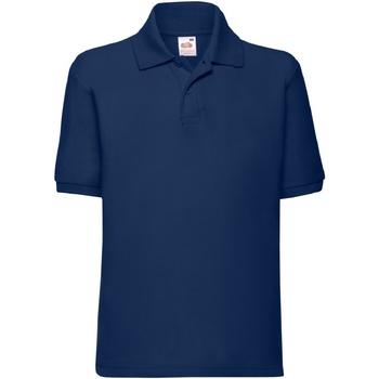 Vêtements Enfant Polos manches courtes Fruit Of The Loom Pique Bleu marine