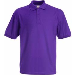 Vêtements Enfant Polos manches courtes Fruit Of The Loom Pique Violet