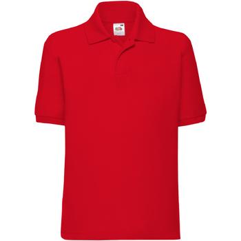 Vêtements Enfant Polos manches courtes Fruit Of The Loom Pique Rouge