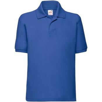Vêtements Enfant Polos manches courtes Fruit Of The Loom 63417 Bleu roi